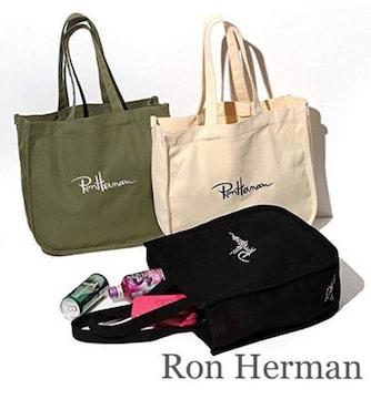 Ron Herman【新品】ロゴ入りトートバッグ Khakiカーキ