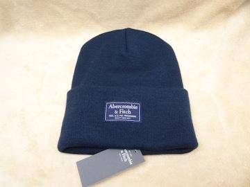 アバクロ メンズ ニット帽 ネイビー 629594651