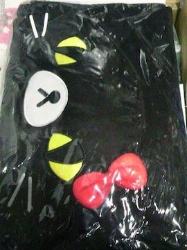 訳有り 未開封 子供用 黒猫フード付ブランケット ¥432