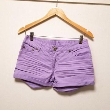ライトパープル薄紫ショートパンツW67◆倖田來未系