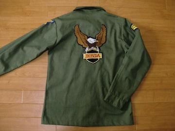 アメリカ軍 ミリタリーシャツ ホンダ ワッペン Mにお直し