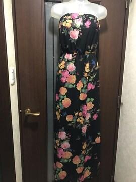 新品M★フォーエバー21★バラ花柄ワンピ/ストレッチ裏地付き