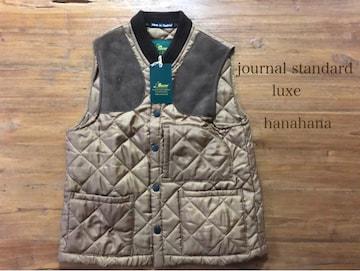 journal standard luxe*イギリス製Beaverスエードパッチベスト
