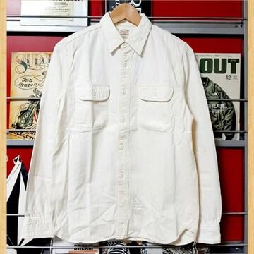 購入15000円 cootie ワークシャツ S アイボリー kj 長袖