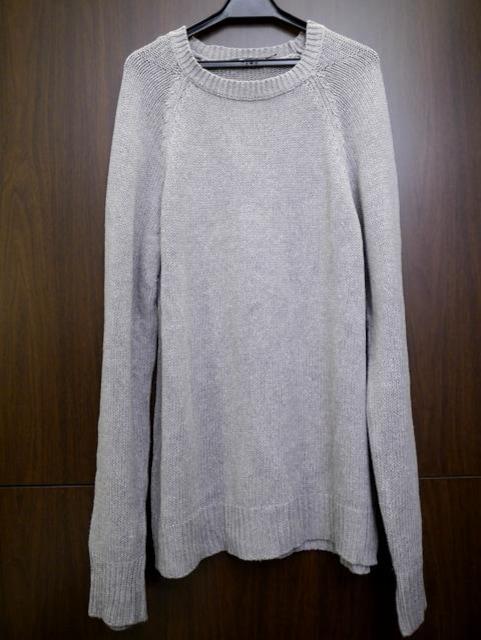 美品◆アレキサンダーワン シルクxコットン ニット セーター灰  < ブランドの