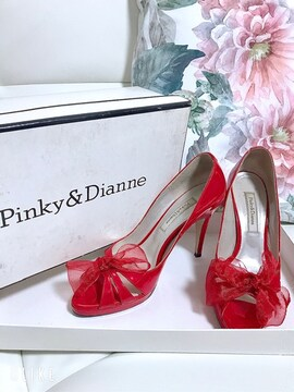 Pinky&Dianne リボン エナメル パンプス ダイアナ ルブタン