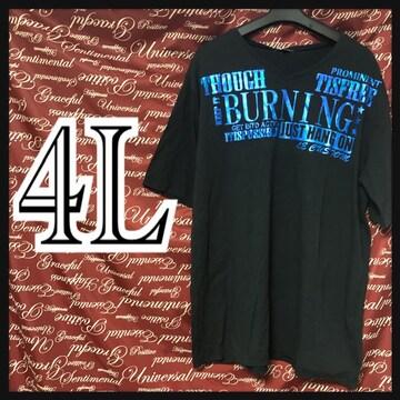4L・英字箔ロゴVネックTシャツ新品/MCF-805
