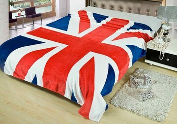 国旗 デザイン 柄 毛布 ブランケット イギリス  150×200cm