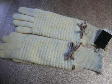 アナスイ- ANNA SUI -ニットロング手袋Wウール100%