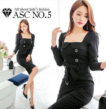 新品  韓国ファッション 令嬢ワンピース