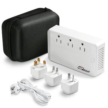 海外旅行用変圧器 Quick Charge 3.0+3つのUSBポート