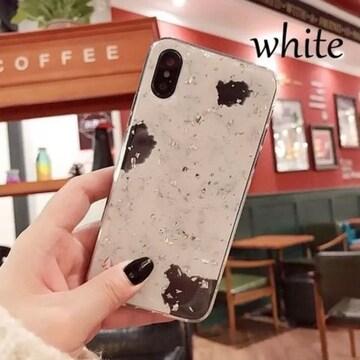 ★送料無料■新品■ 大理石調 キラキラ iPhoneケース iPhone X用