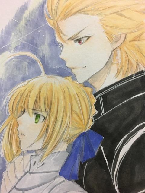 自作イラスト Fate Zero セイバーとアーチャー 新品 中古のオークション モバオク
