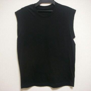 メンズ 袖なし シャツ ブラック Lくらい