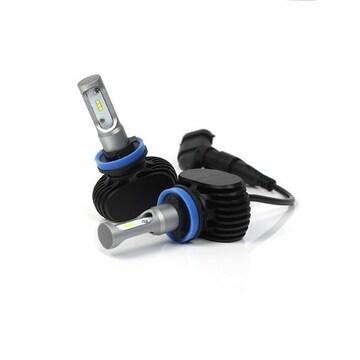 H11 H9 H8 兼用 S1 LED ヘッドライト 12v 25w 6500k ファンレス