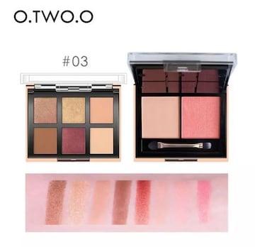 O.TWO.O 8色アイシャドウチークパレット #03