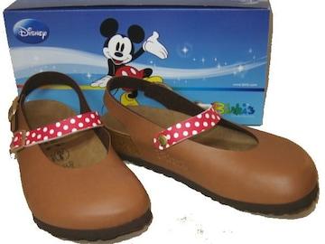ビルケンシュトック ビルキ ディズニーミッキーマウス茶リカ36