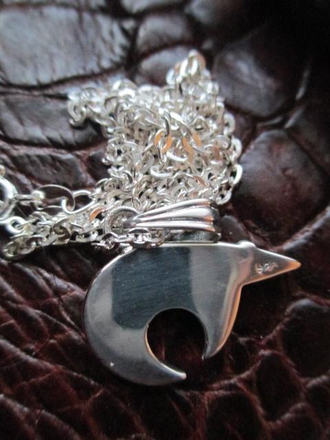 Silver925 くまモチーフペンダント +925チェーン50cm  6.8g < 男性アクセサリー/時計の