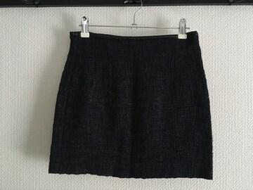 ZARA ザラ 台形ミニスカート 黒 ブラック 青 ブルー