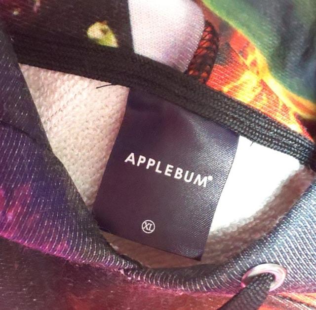 APPLEBUM黒XLフラワーブラックスウェットパーカーアップルバム入手困難限定 < ブランドの