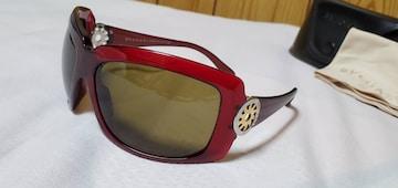 正規 ブルガリ B-zeroロゴ×トンドサン ゴシックエンブレム ラグジュアリーサングラス 赤