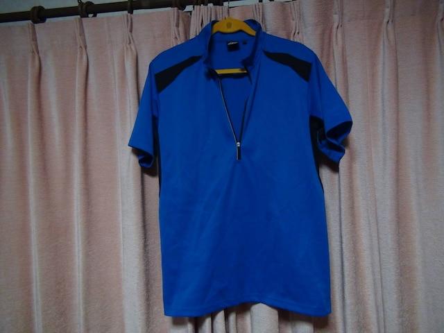 ASのポロシヤツ(LL)ブルー&ブラック!。  < 男性ファッションの