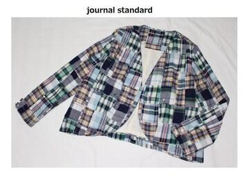 ジャーナルスタンダード*journal standard★マドラスチェックパッチワークジャケット/新品