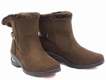 ショートブーツ 9552 スエード 防水 Mサイズ DBR 防寒 防滑