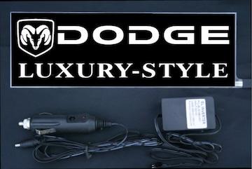 光るプレート ダッジ DODGE ラグ EL発光ブルー