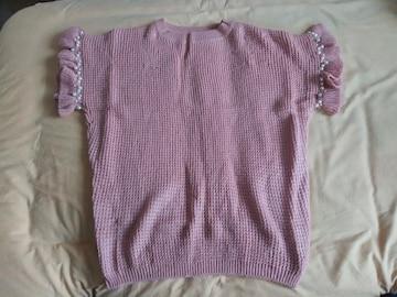 サマーセーター ニット ピンク セーター