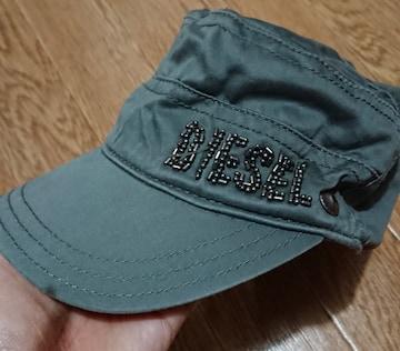 キッズ☆53cm位?DIESELカーキ色帽子