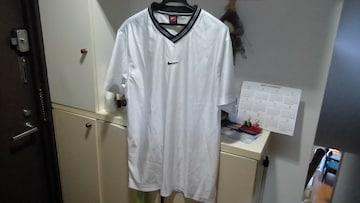 ナイキ VネックTシャツ ホワイト トレーニング Lサイズ