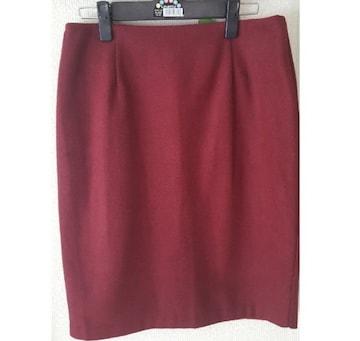ボルドーゆったりめタイトスカート