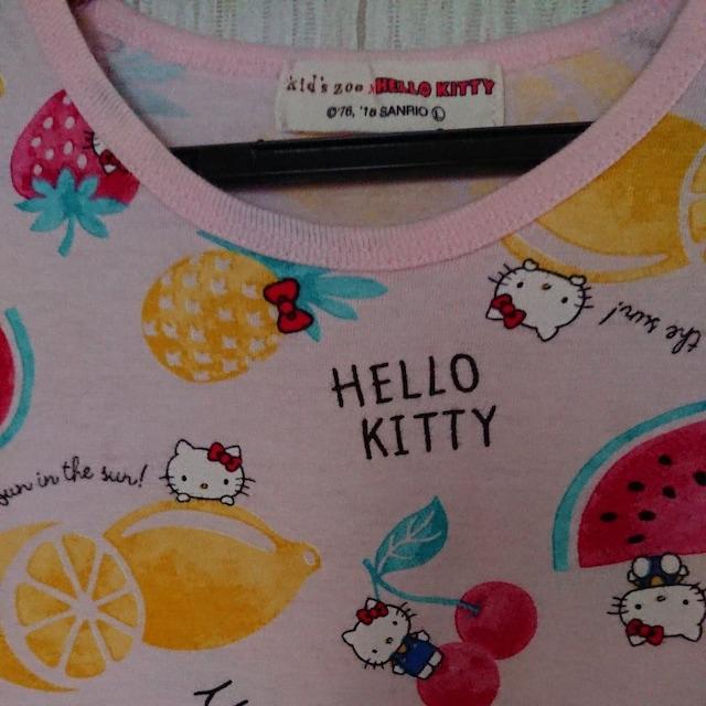 ムージョン購入☆kid'szoo☆ハローキティのTシャツ☆size120日本製 < ブランドの