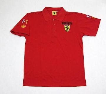 1セール!  フェラーリ ロゴ  ポロシャツ レッド XL