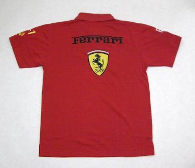 1セール!  フェラーリ ロゴ  ポロシャツ レッド XL < 男性ファッションの