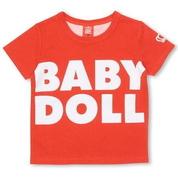 新品BABYDOLL☆140 ロゴ&BIGハートTシャツ 赤 ベビードール
