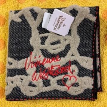 ヴィヴィアンウエストウッド タオルハンカチ ロゴR刺繍