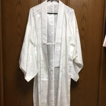 とっても素敵な長襦袢。白。冠婚葬祭OK。正絹?ポリ?Lサイズ