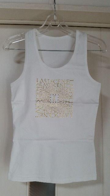 未使用 ラストシーン ラインストーン付きタンクトップ シルバー&ゴールド 2枚セット 白 < 女性ファッションの