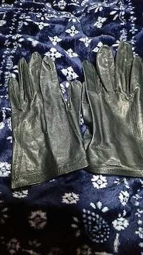 黒★革手袋