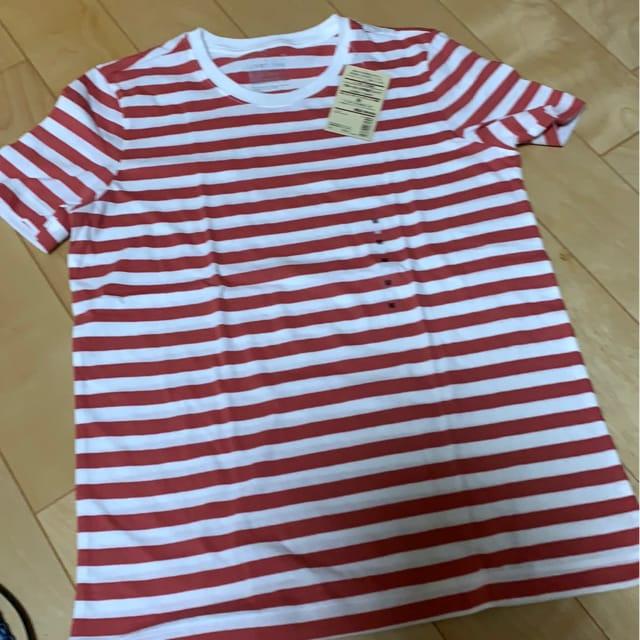 新品タグ付き 無印良品 ボーダーTシャツ 990円  < ブランドの