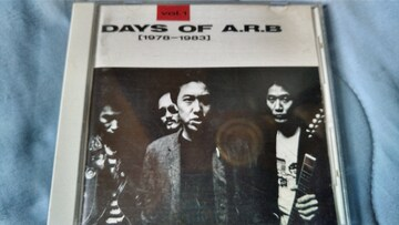 ARB DAYS OF A.R.B VOL.1 78-83 ベスト