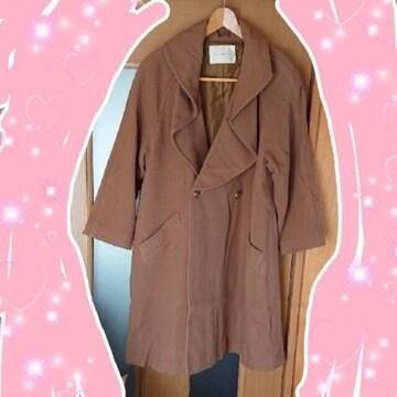 【値下げ不可】モカブラウン ロングコート