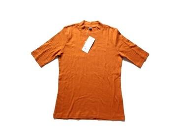 新品 定価1000円 ユニクロ UNIQLO リブ ハイネック Tシャツ