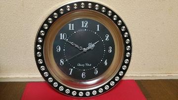 モノトーン好きな方にも/キラキラシルバー&ブラック/アナログ壁掛け時計