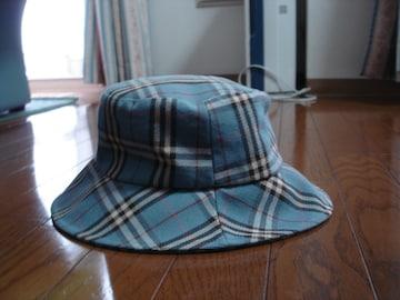 ★バーバリーブルーレーベル バーバリーチェック帽子★最終!