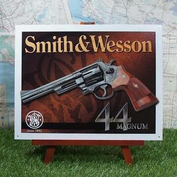 新品【ブリキ看板】スミス&ウェッソン 44Magnum