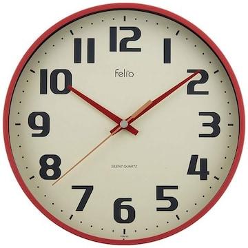 置き時計 掛け時計 レッド アナログ