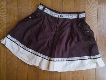 axes femme クラシカルなキュロットスカート こげ茶 M N2m
